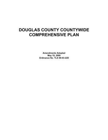 DOUGLAS COUNTY COUNTYWIDE COMPREHENSIVE PLAN