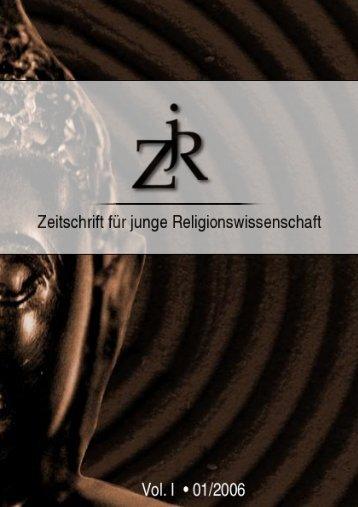 PDF file (2,4 MB) - ZjR - Zeitschrift für junge Religionswissenschaft