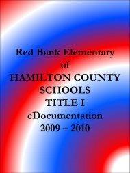 Tennessee School Improvement Planning Process - Hamilton ...