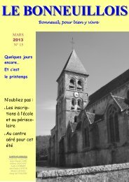 Mars 2013 - Site de la Mairie de Bonneuil en Valois