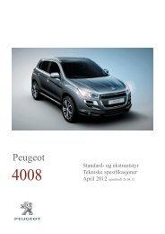 Ekstrautstyr - Peugeot