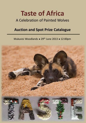 Auction and Spot Prize Catalogue - African Wildlife Conservation Fund