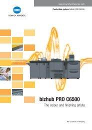 bizhub PRO C6500 - R3 Business Solutions