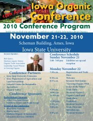 Conference Planning and Management - Iowa State University