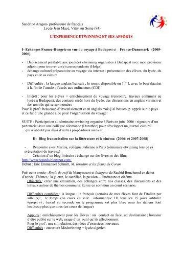 Sandrine Aragon- professeure de français Lycée Jean ... - ADEPBA