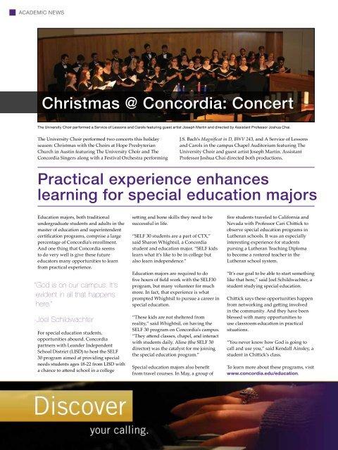WINTER 2012 - Concordia University