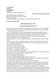Conseil d'État statuant au contentieux N° 293410 Mentionné aux ...