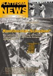 Plattform News zum 20. Jahrestag von Tschernobyl (2/2006) - Plage