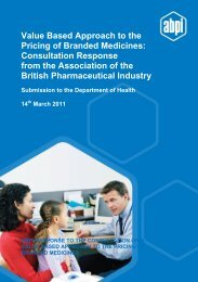 Value Based Approach to the Pricing of Branded Medicines ...