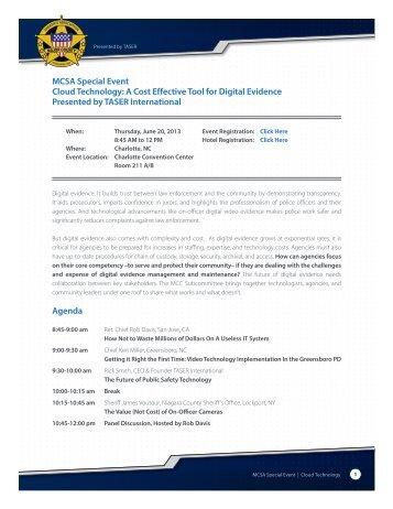 MCSA Special Event Cloud Technology - TASER International