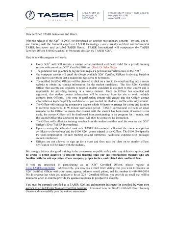 TASER Letterhead - TASER International