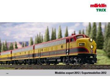 Modèles export 2012 / Exportmodellen 2012 - Märklin