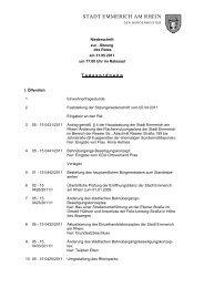 Niederschrift der Ratssitzung vom 31.5.2011 - Emmerich