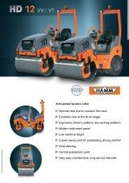 Hamm - HD12VT - Tandem Vibrating Roller