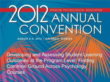 Developing and Assessing Student Learning Outcomes at ... - Psi Beta