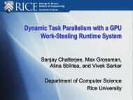 Dynamic Task Parallelism with a GPU Work ... - Rice University