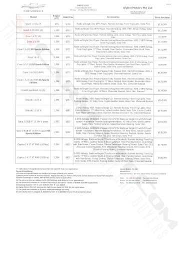 Chevrolet Pricelist Aug 2012 (2012-08-10) - sgCarMart