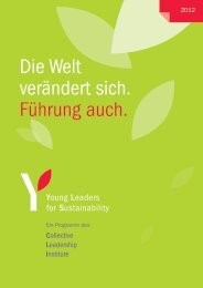 YLS Publikation 2012 - Young Leaders for Sustainability