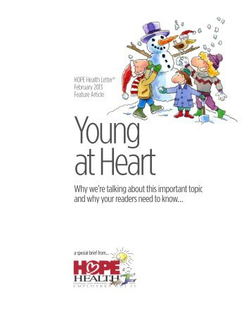 February 2013 HOPE Health Letter Feature Article Young at Heart