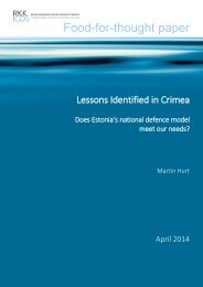 Martin Hurt - Lessons Identified in Crimea