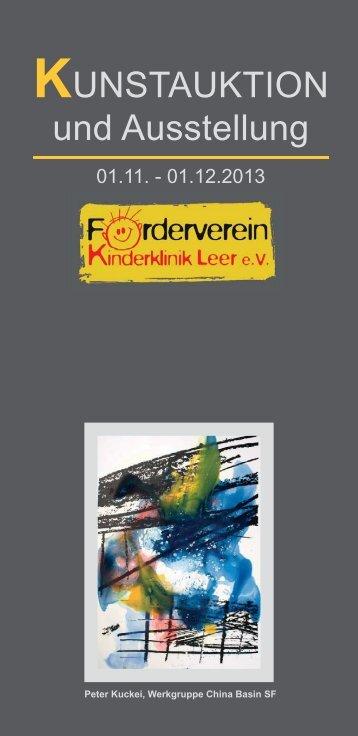 Kunstauktion am Klinikum Leer zu Gunsten des Fördervereins ...