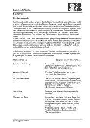 Grundschule Werther 3. Unterricht 3.3 ... - Stadt Werther