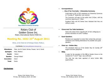 Bulletin 1032.pdf - The Rotary Club of Golden Grove, South Australia