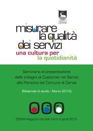 Misurare la qualità dei servizi - Cervia turismo - Comune di Cervia