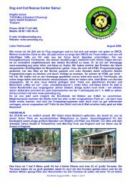 Rundbrief August 2006 - The Dog Rescue Center Samui