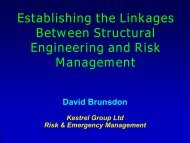 Establishing the Linkages Between Structural Engineering and Risk ...