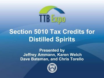 13-PowerPoint-Section 5010 Tax Credit (JMM) - TTB