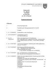 Niederschrift der Ratssitzung vom 22.2.2011 - Emmerich