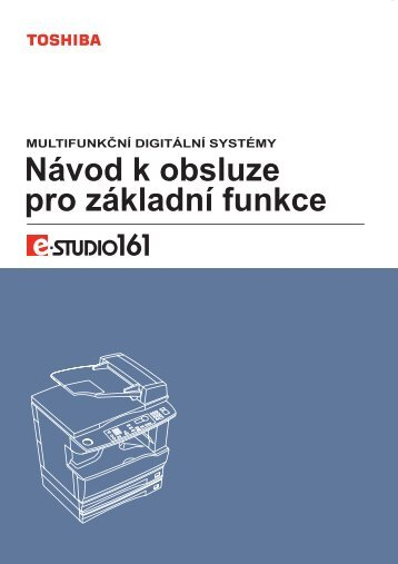 Návod k obsluze pro e-STUDIO161