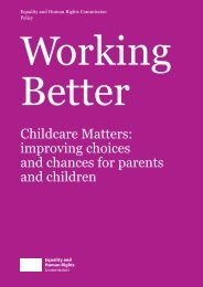 Childcare Matters - Equality and Human Rights Commission