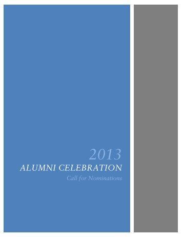 2013alumni celebrationcall for nominations - UCSD Alumni - UC ...