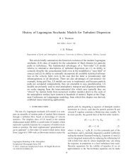 History of Lagrangian Stochastic Models for Turbulent Dispersion