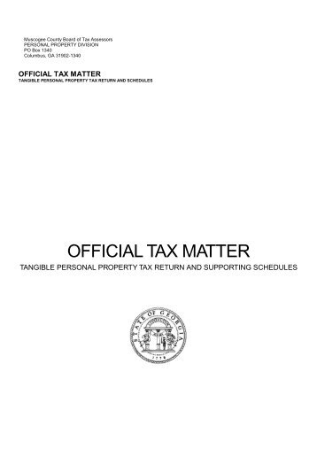 Official tax matter - Columbus, Georgia Consolidated Government