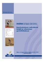pdf - Kilpa- ja huippu-urheilun tutkimuskeskus - Jyväskylän yliopisto