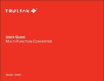 USER GUIDE MULTI-FUNCTION CONVERTER - Cables To Go