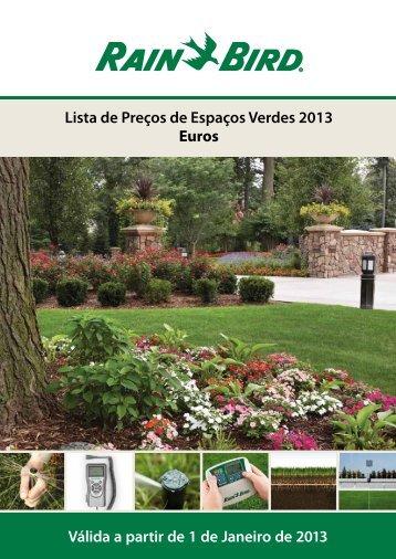 Lista de Preços de Espaços Verdes 2013 Euros Válida a ... - Weebly