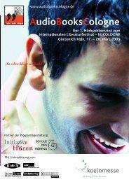 AudioBooksCologne 2005 - Initiative Hören