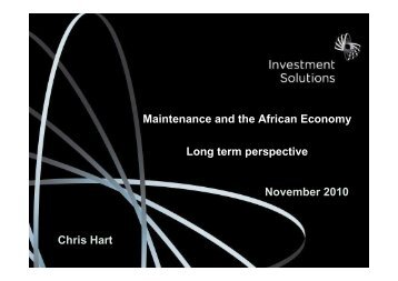 Maintenance and the African Economy Long term perspective Chris ...