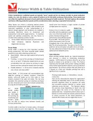 Printer Width & Table Utilization Technical Brief - EFI