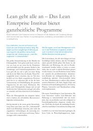Lean geht alle an – Das Lean Enterprise Institut ... - Schuh Group