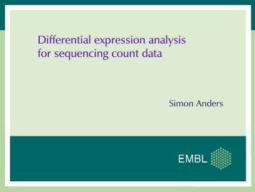 Differential expression analysis for sequencing count ... - Bioconductor