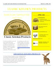 Easter Season - Classic Kitchen Products