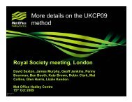 More details on the UKCP09 method - Royal Meteorological Society