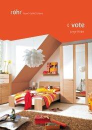 Katalog Serie Vote - BEON Wohnen: Wohnmöbel