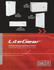 Compact Central Lighting Inverters - Dual-Lite
