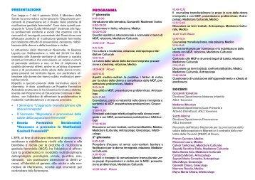 Conoscere e prevenire le Mutilazioni Genitali Femminili - Azienda ...